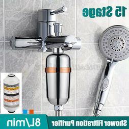 15 Stage Shower Head Filter Purifier Softener Hard Water Bat