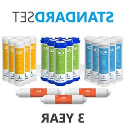 3 Year Reverse Osmosis System Replacement Filter Set – 21