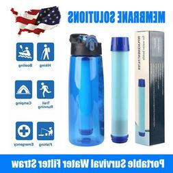 3-Stage Portable Water Filter Straw Purifier Camping Emergen