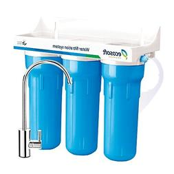 Ecosoft 3 Stage Under Sink Water Filter System For High Capa
