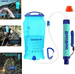 3L Portable Water Filter Bag Hydration Purifier Camping Emer