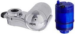 PUR 3Stage Horizontal Water Filtration Faucet Mount Chrome F