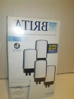 4 chrome faucet water filters sink filtration