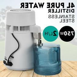 4L WATER DISTILLER PURIFIER STAINLESS STEEL DISTILLED PURIFI
