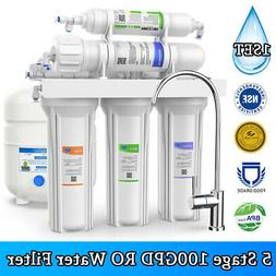 5 Stage Reverse Osmosis Drinking Water Filter RO System Wate