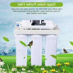 5 Stages RO Reverse Osmosis Drinking Water Filter Purifier U