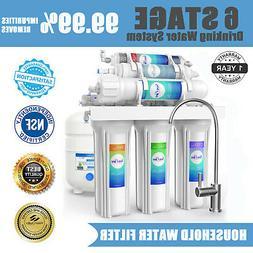 100GPD 6 Stage Alkaline Reverse Osmosis Drinking Water Filte