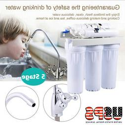 5 Stages Under Sink RO Reverse Osmosis Drinking Water Filter