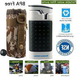 Emergency Water Filter Purifier Pump Survival Gear for Backc