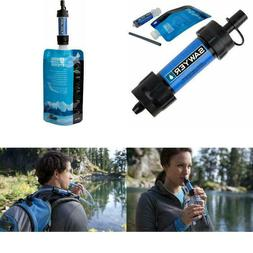 Camping Water Filter System Purifier Drinking Straw Hiking E
