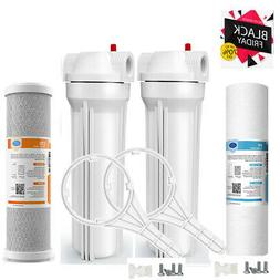 Dual Whole House Water Filter Purifier  Carbon Block and Sed