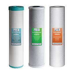 iSpring F3WGB32BM Replacement Filter Pack for 3 Stage 20 Inc