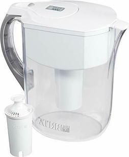 Brita Grand Water Filter Pitcher, White, 10 Cup