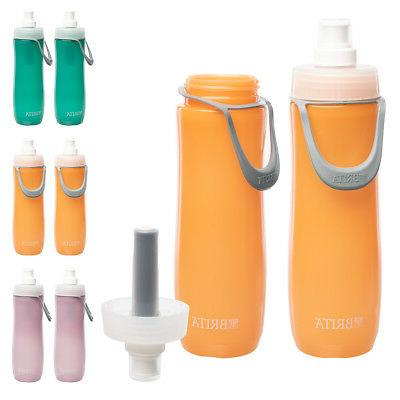 2pk 20oz water bottles with straw