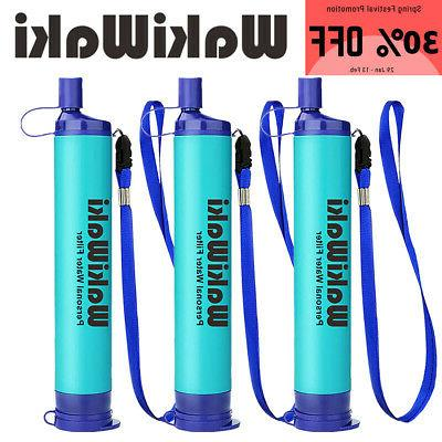 3 pack personal survival water filter straw