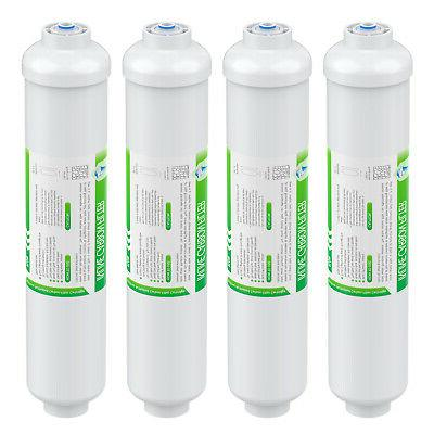 4 pack inline post carbon water filter