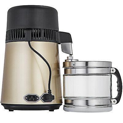 4L Home Countertop Steel Distiller Purifier