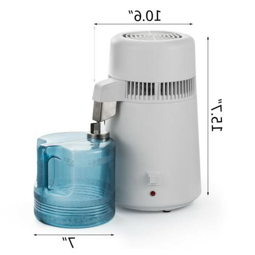 750W 4L Water Pure Purifier Filter Countertop Stainless