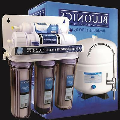 BLUONICS 5 Stage Reverse Osmosis Drinking Water System RO Ho