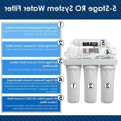 5 Stage Reverse Osmosis Drinking Water Filter System Home Purifier FILTERS