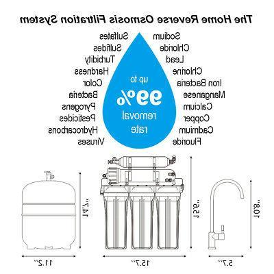 100GPD 5 Sink Reverse Purifier Drinking