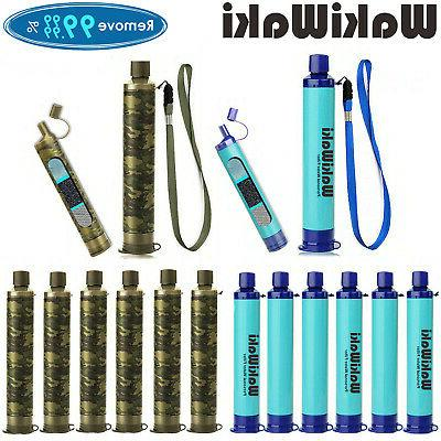 6 pack portable survival water filter straw