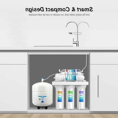 6 Alkaline Reverse Osmosis Filter System Faucet