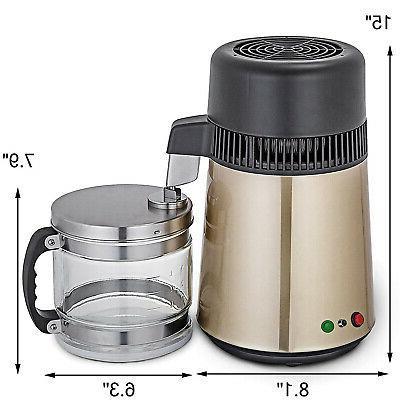 4L Home Steel Interior Water Distiller Purifier