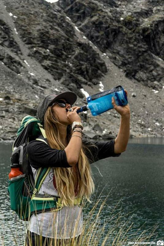 Camping Water Filter Purifier Drinking Emergency Survival