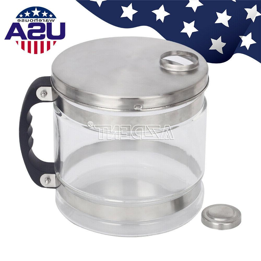 UPS 4L Bottle Pure Water Filter Bucket Jar Glass Distiller P