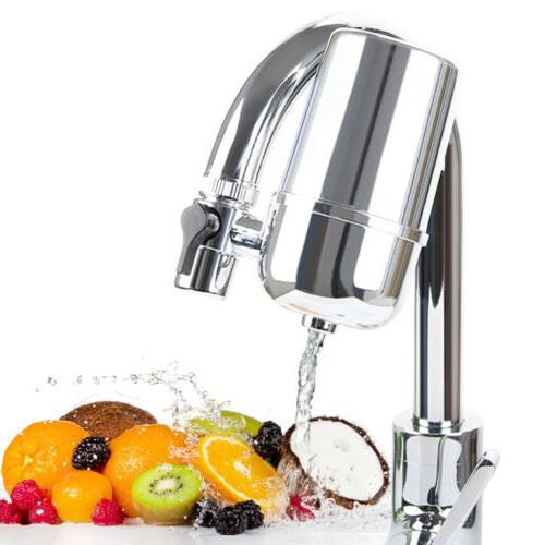 Faucet Water Filter For Kitchen Sink Mount Filtration Home R