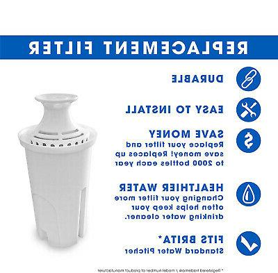 Fits Brita PUR Classic Water Pitcher Replacement Free
