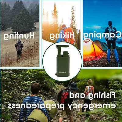 Personal Water Filter Purifier Camping Outdoor Emergency