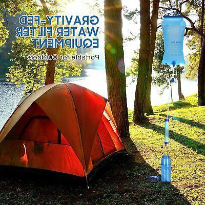 Gravity Survival Filter Straw Hiking Emergency