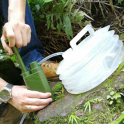 Personal Water Purifier Backpacking Survival Tool