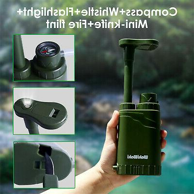 Personal Water Purifier for Camping Backpacking