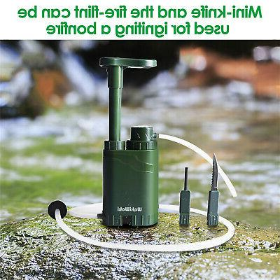 Personal Filter Pump Purifier for Camping Backpacking Survival