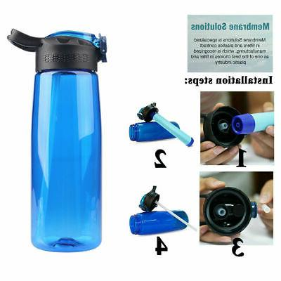 3-Stage Portable Water Straw Bottle