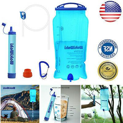 Portable Survival Water Straw Purifier Outdoor Emergency Kit