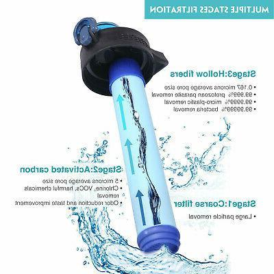 Survival Water Purifier Filtration Bottle Camping Emergency