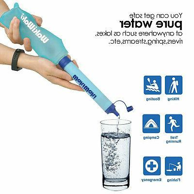Portable Water Straw Purifier Camping Emergency
