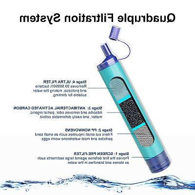 Survival Straw Purifier Filtration Bottle Emergency US
