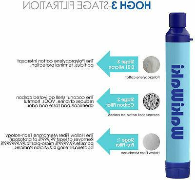 Survival Water Purifier Filtration Emergency Gear US