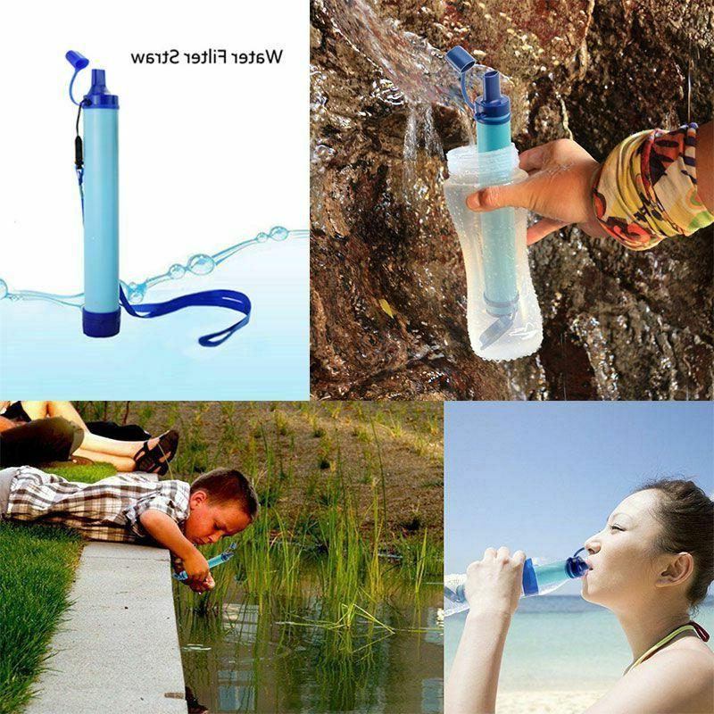 Portable Army Soldier Water Filter Purifier Hiking Camping S