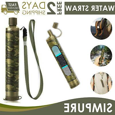 survival water filter straw drinking purifier filtration