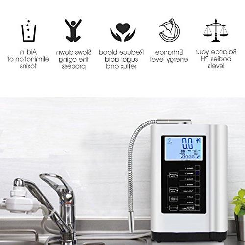 AlkaDrops Water Ionizer, Purifier PH 3.5-10.5 to 6000 Liters Per Settings,Auto-Cleaning,Intelligent