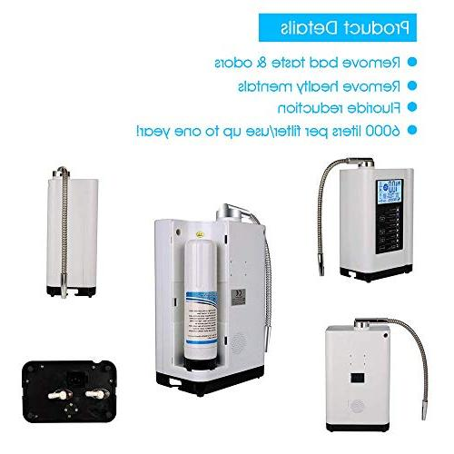 AlkaDrops Water Ionizer, Purifier Alkaline Acid Machine,Up to -500mV Liters Per Water Settings,Auto-Cleaning,Intelligent