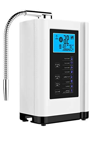 AlkaDrops Ionizer, Purifier Machine Alkaline to -500mV ORP, 6000 Liters Per Water Settings,Auto-Cleaning,Intelligent