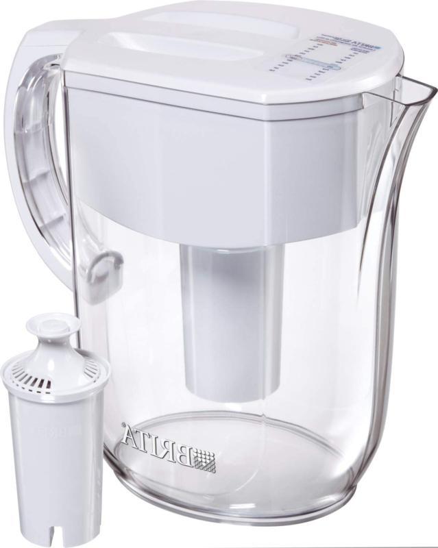 Brita Water Pitcher With 1 Filter, W 1 Std, White