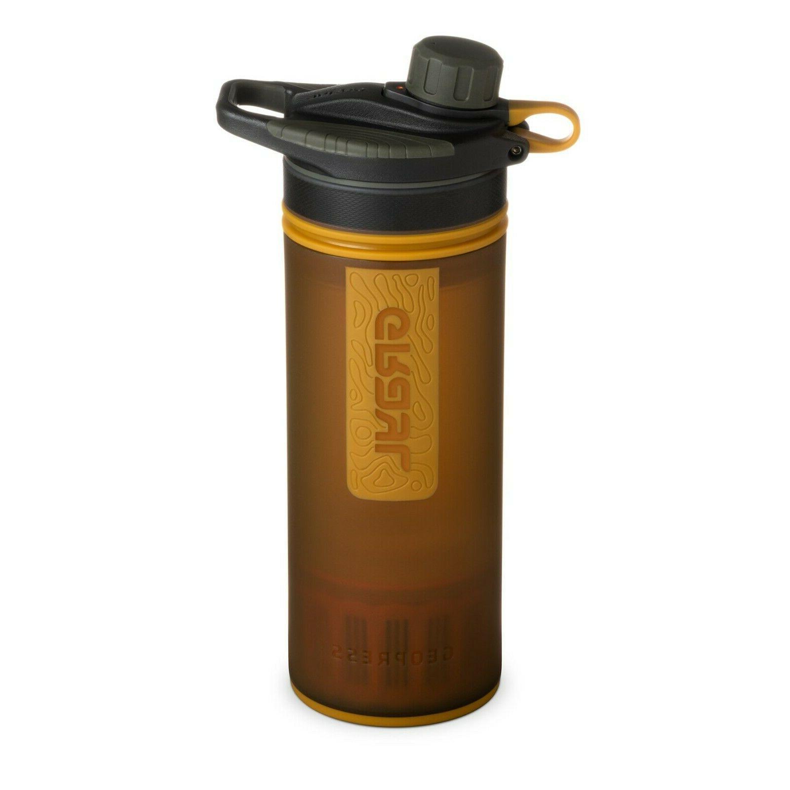 water purifier geopress 24oz bottle amber hiking